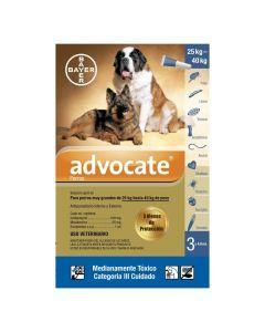 Advocate para Perros de 25 kg hasta 40 kg Tripack