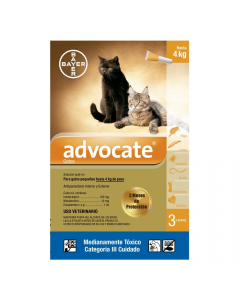 Advocate Pipeta para Gatos Pequeños hasta 4 kg Tripack