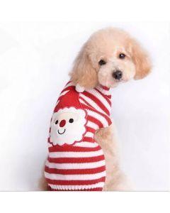 Suéter PAPÁ NOEL Navideño, Saco para Perros o Gatos, Valentín For Pets Rojo Talla XL