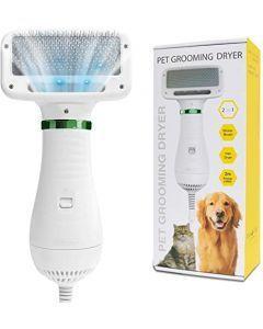 Cepillo con secador para mascotas