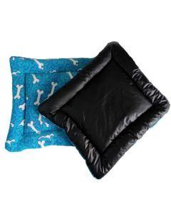 Colchoneta impermeable M 70/100 Huesos azul