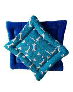 Cojín / Colchoneta Doble Faz  Azul/Azul  Talla M
