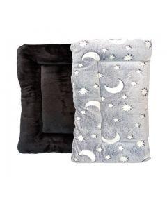 Cojín / colchoneta doble Faz  gris/negro  Talla M