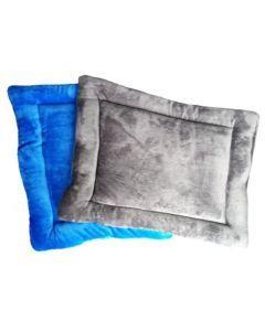 Cojín / colchoneta doble Faz  gris/azul  Talla s