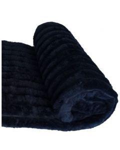 Cobija pets  acanalada Azul Oscuro talla  M  80*80