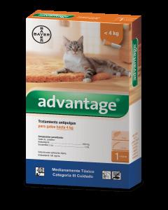 Antipulgas Advantage Pipeta para gatos-Ciudaddemascotas.com