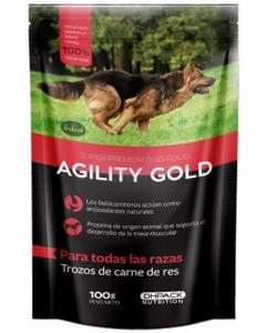 Pouche para perro Agility Gold Carne de Res-Ciudaddemascotas.com