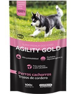 Agility Gold Pouch Trozos De Cordero Cachorro