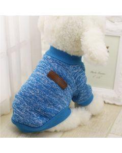 Suéter, buzo, abrigo para perro o gato Valentin For Pets en algodón Aguamarina Talla XXL - Ciudaddemascotas.com