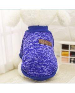 Suéter, buzo, abrigo para perro o gato Valentin For Pets en algodón Azul Talla L