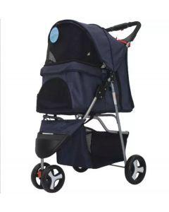 Coche Pet Stroller Mediano Color Negro