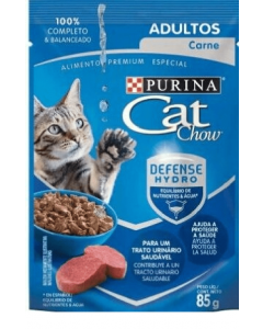 Cat Chow Pouch Hydro Defense Carne x 85 gr