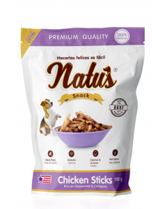 Snacks para perros Natus Chicken Sticks - ciudaddemascotas.com