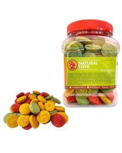 Cocaditas de fibra natural 1 lb - Ciudaddemascotas.com