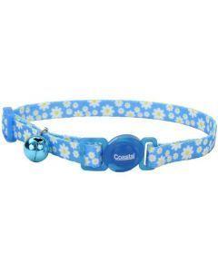 Coastal Collar Gato Fashion Flores Daisy Azul