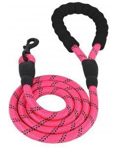 Correa reflectiva para perro - rosado - Ciudaddemascotas.com