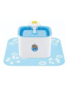 Tapete para Fuente de Agua Flor Cubo Azul-Ciudaddemascotas.com