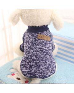 Suéter, buzo, abrigo para perro o gato Valentin For Pets en algodón Azul Oscuro Talla XL