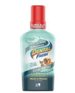 Dental Fresh  Enjuague Bucal Para Perros Y Gatos 4 Oz