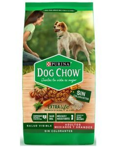 Dog Chow Sin Colorantes Adultos Medianos Y Grandes 2Kg