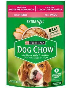 Pouch para perros Dog chow Cena pavo -Ciudaddemascotas.com
