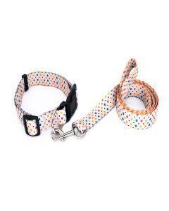 PetsMasters Collar + Correa Plana Universal Beich Circulos De Colores