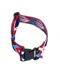 PetsMasters Collar Artesanal Rojo Multicolor
