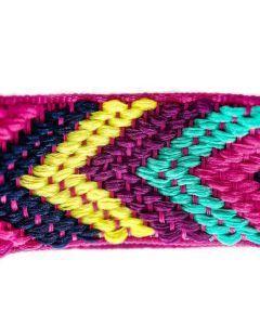 PetsMasters Collar Artesanal Rosado Multicolor
