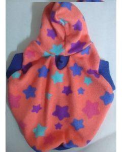 Camisa con Capota de Estrellas Rosadas-Ciudaddemascotas.com