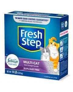 Fresh Step Arena Multi Cat Aglomerante x 6.35 Kg - Ciudaddemascotas.com