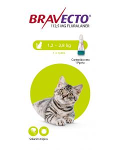Bravecto Para Gato Spot on 1.2 - 2.8 Kg - Ciudaddemascotas.com