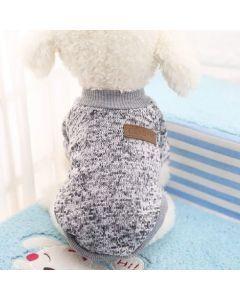 Suéter, buzo, abrigo para perro o gato Valentin For Pets en algodón Gris Talla L