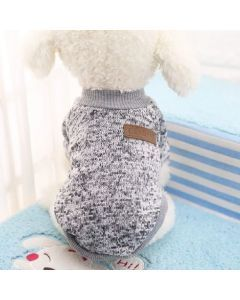 Suéter, buzo, abrigo para perro o gato Valentin For Pets en algodón Gris Talla XXL