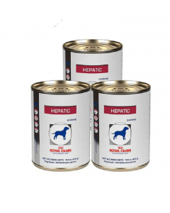Royal Canin Dog Lata Hepatic Tripack x 410 gr