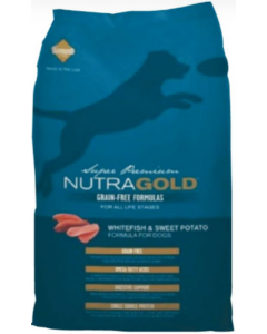 Nutra Gold Dog GF Whithefish & Sweet Pot 2.25Kg