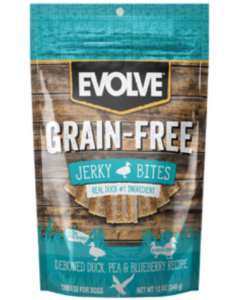 Evolve Dog Snack Grain Free Jerky Duck  340 Gr