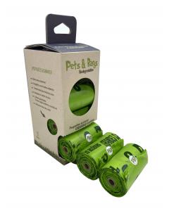 Pets & Bags Bolsas Biodegradables 8 rollos x 15 un
