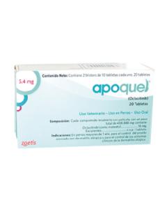 Medicamentos para perros Apoquel 5,4 mg - Ciudaddemascotas