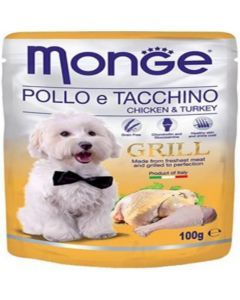 Monge grill pouche chicken and turkey 100 g