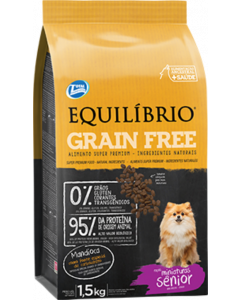 Equilibrio Perro Mature Miniatura Grain Free x 1,5 Kg - PRSR