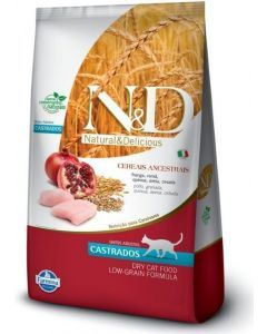 N&D Ancestral Feline Frango Castrado 10.1 Kg