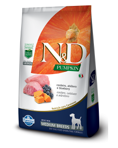 N&D Pumpkin Adult Medium Cordeiro 2.5 Kg-Ciudaddemascotas.com