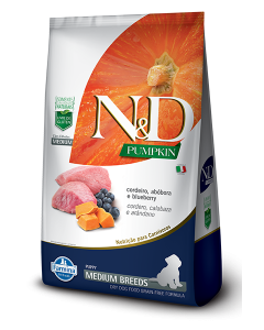N&D Pumpkin Puppy Medium Cordeiro 2.5 Kg