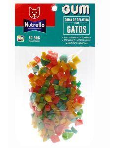 Gomitas para Perros Nutrello Gum Gatos 75 gr-Ciudaddemascotas.com