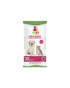 Dinky paños humedos para mascotas x 35 und