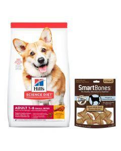 Comida para Perros Hills Small Bites + Smartbones-Ciudaddemascotas.com