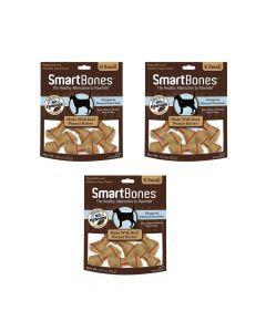 Smartbones Peanut Butter Small x 6 Piezas combo x3und - Ciudaddemascotas.com