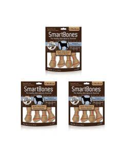 Smartbones Peanut Butter Medium X 4 Piezas Combo X3Und