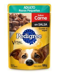 Comida Pedigree Pouch Adulto Carne - Ciudaddemascotas.com