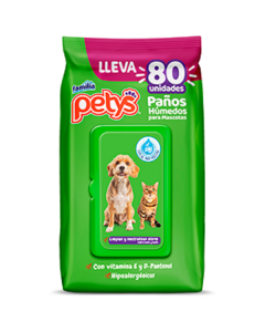 Petys Paños Húmedos para Mascotas x 80 und